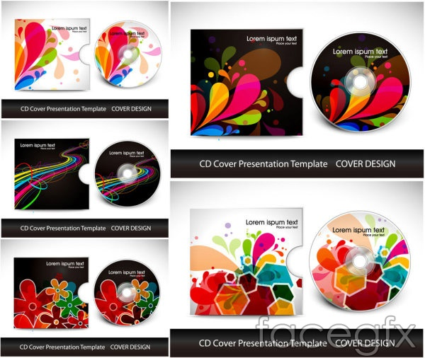 Brilliant CD design vector