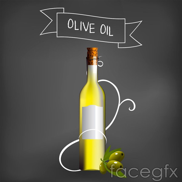 Olive oil packaging vector