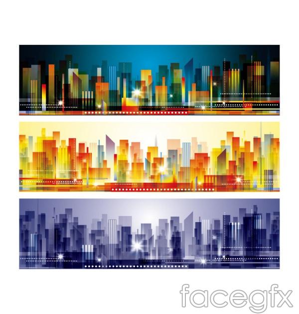 Abstract urban sketch vector