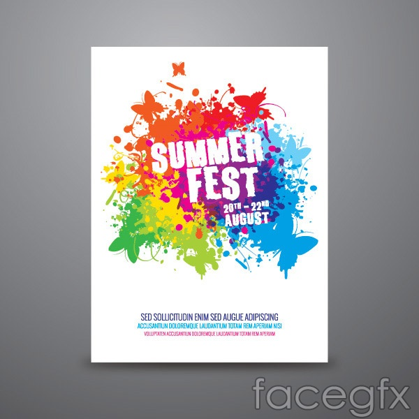 Summer Carnival poster vector | Free download