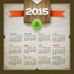 2015 calendar design vector