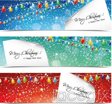 Design Christmas Banners Backgrounds Vector For Free