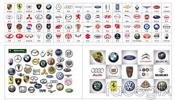 Car Signs Vector Free Download - Car signs and names