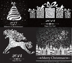 2014 Christmas theme vector