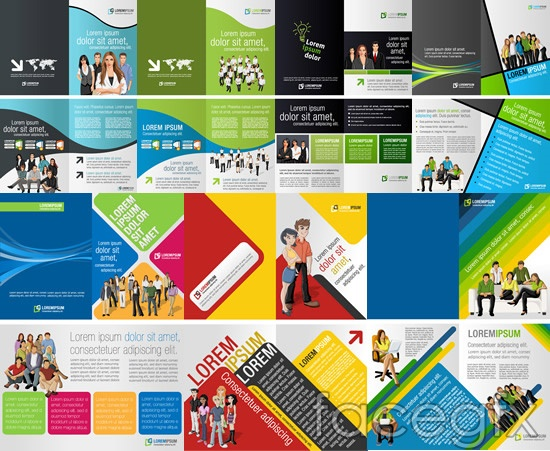 European and American business book vector