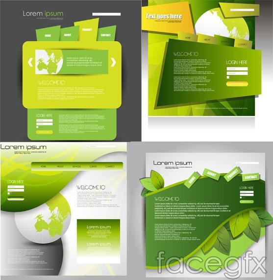 Creative Green Web vector
