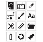 Common icons vector
