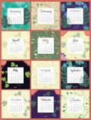 Flower 2015 calendar vector