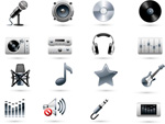 Music-related icons vector