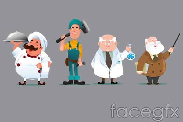 Cartoon vocational character vector