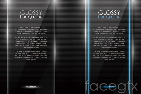Glare black background vector