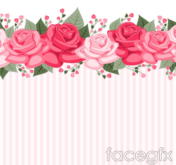 Rose striped background vector