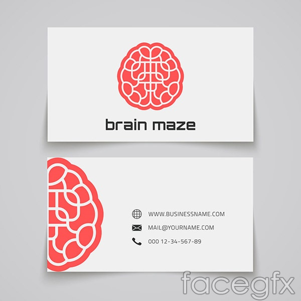 Business card display templates vector
