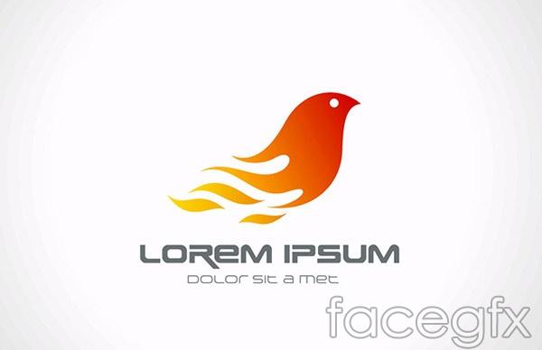 Flame bird icon vector
