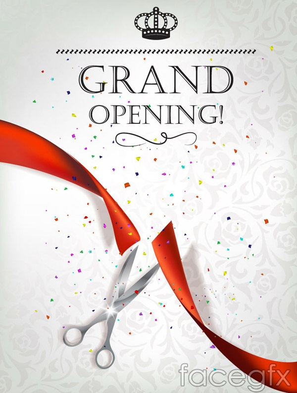 Opening ceremony invitation poster vector