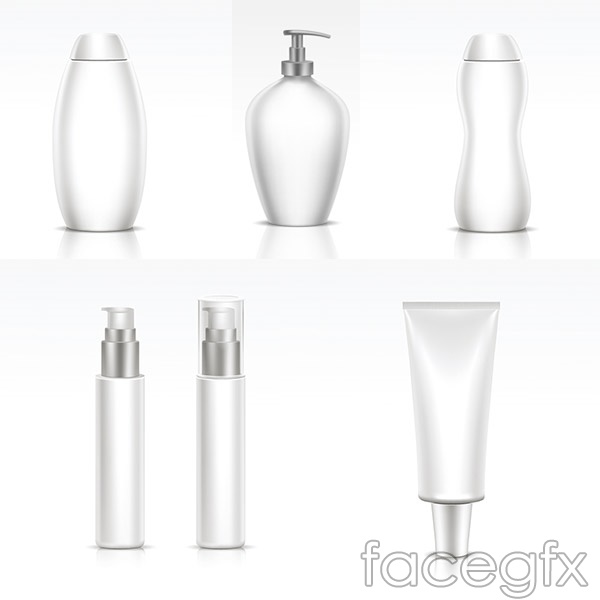 Empty bottle packaging vector