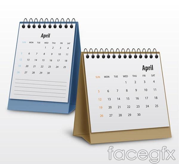 Vertical calendar design vector