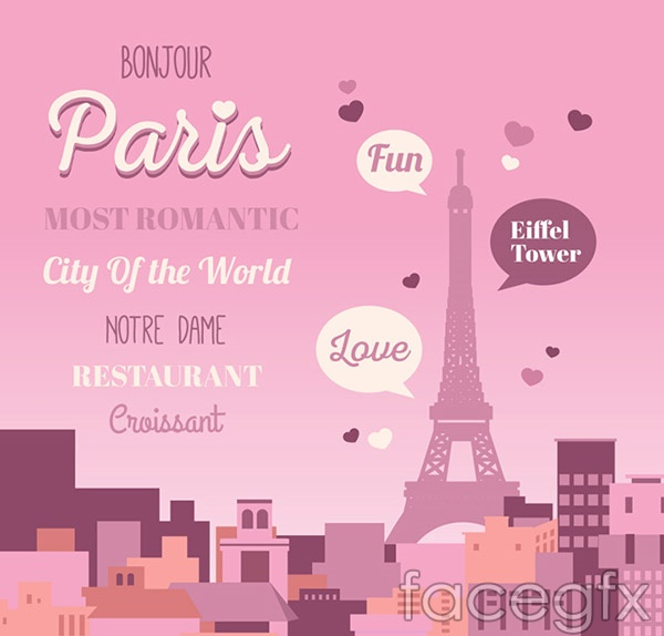 Eiffel Tower posters vector