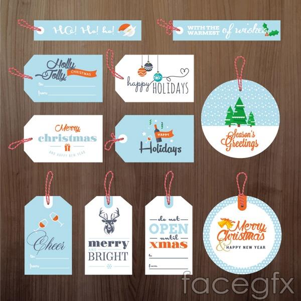Fresh Christmas tag vector
