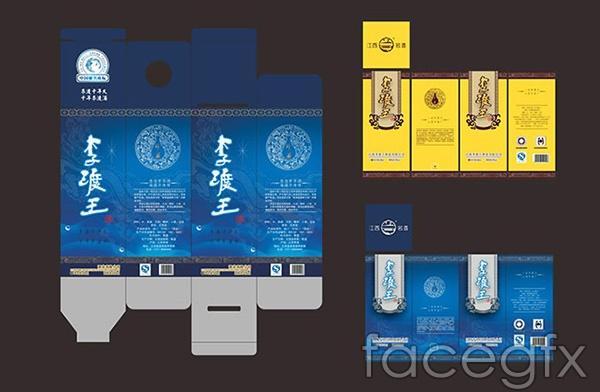 Lidu King liquor packaging vector
