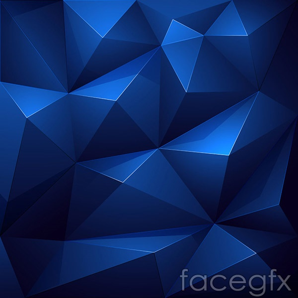 Three-dimensional polygon background vector