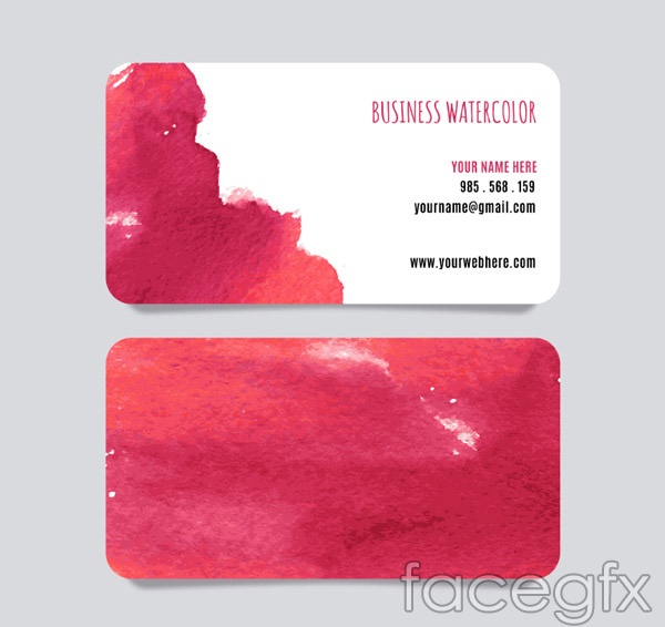 Water color business cards vector