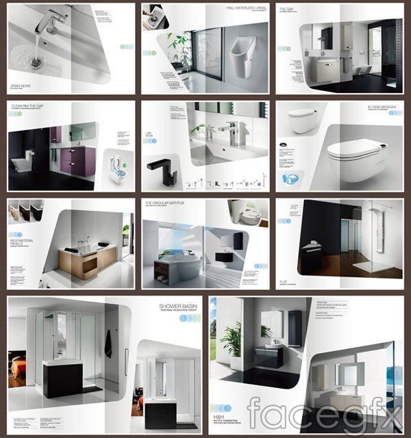 Bathroom advertising catalogs vector