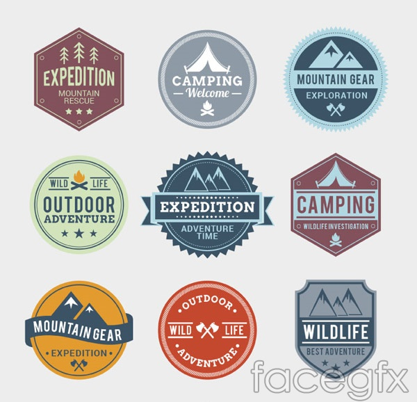 Outdoor adventure tab vector