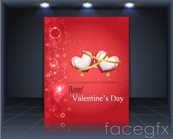 Valentines day publicity boards vector
