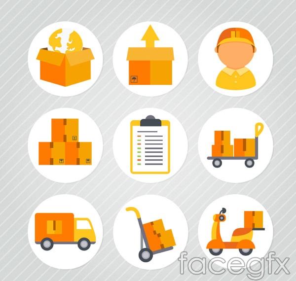 Circular logistics icon vector