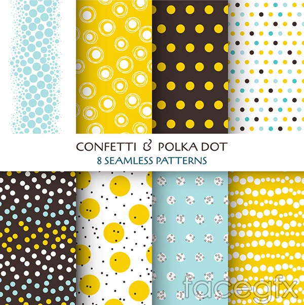 Dots seamless background vector