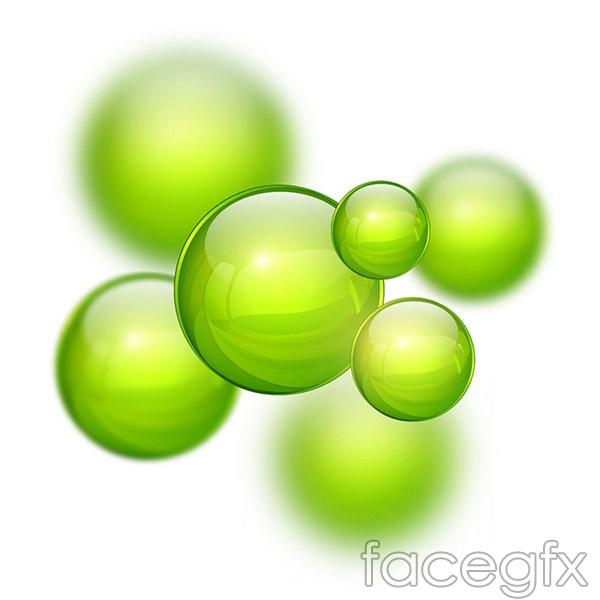 Fashion green beads vector