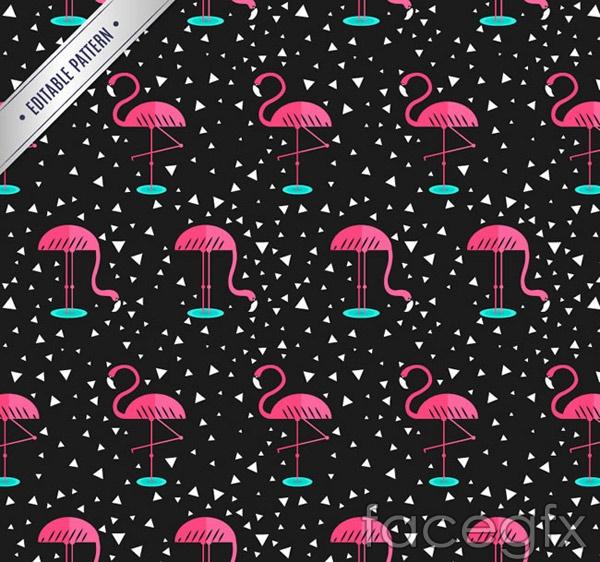 Flamingo seamless background vector