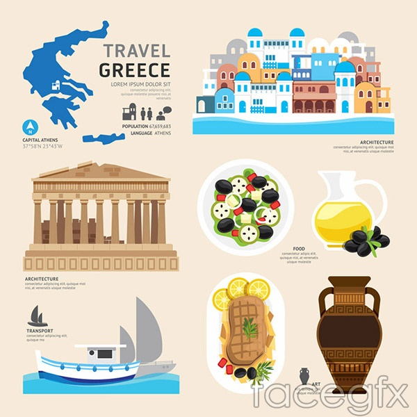 Greece culture vector