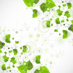 Leaves and gear elements vector