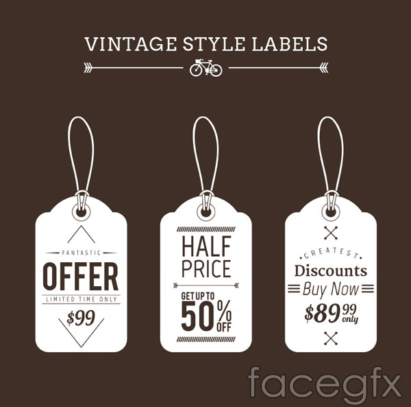 Vintage discount tag vector