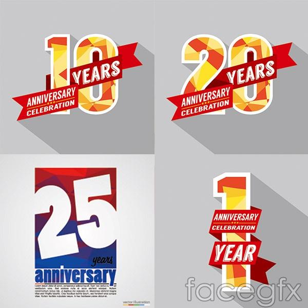 Anniversary figures vector