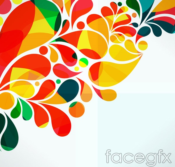 Colorful watercolor patterns vector