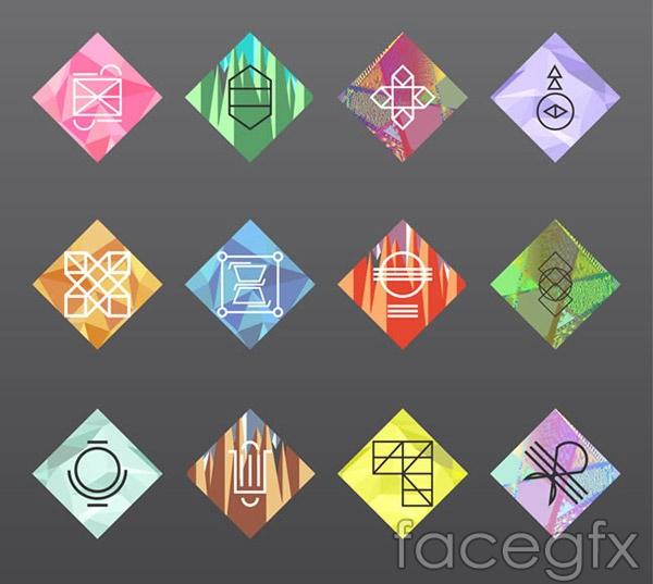 Fashion diamond cards vector