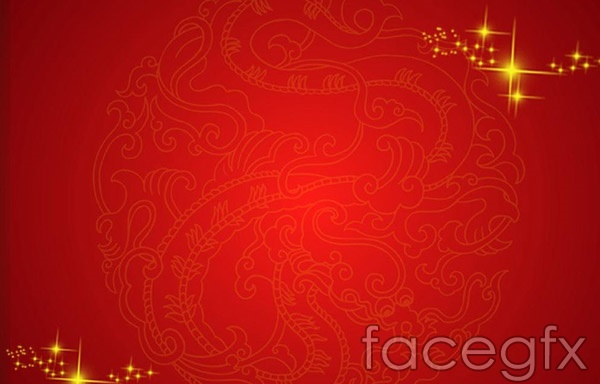 Festive red patterned background vector