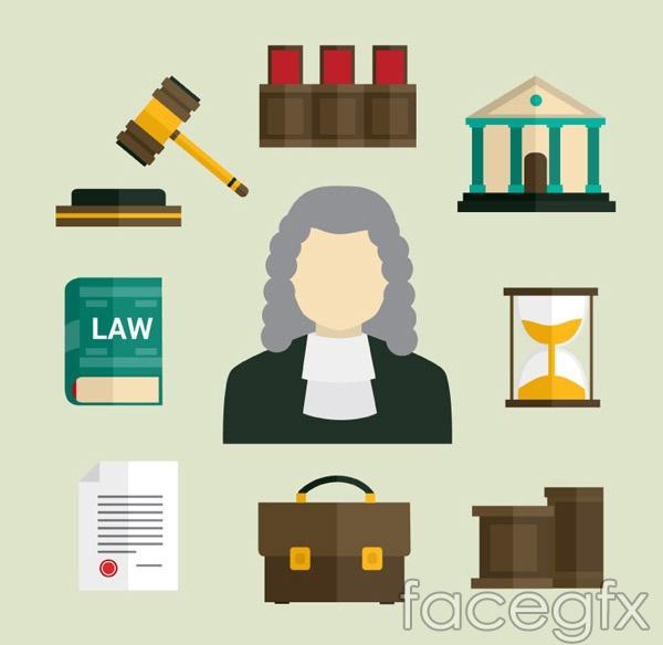 Legal elements design vector