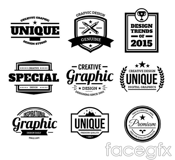 Black high quality label vector