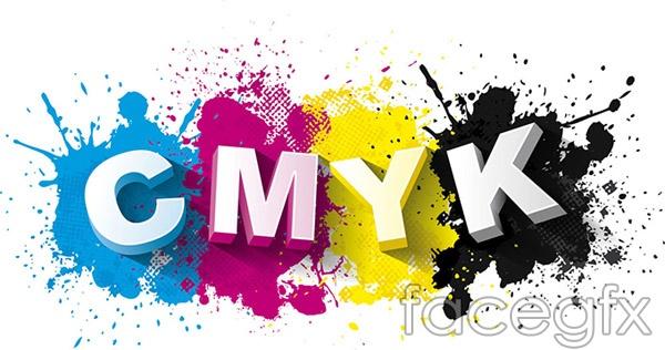 CMYK stereo vector