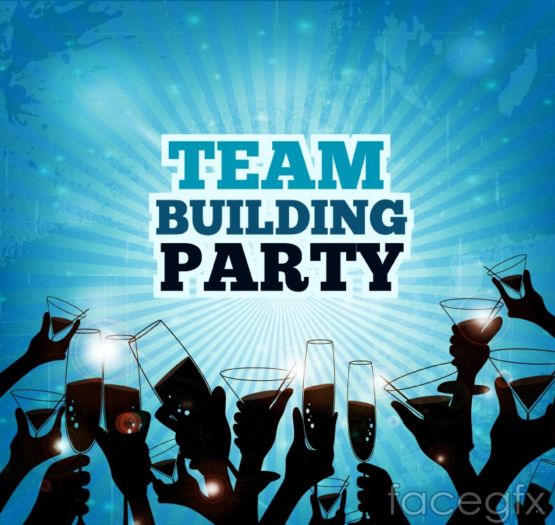 Creative business party poster vector