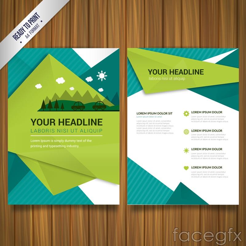 Fresh business flyer vector graphics