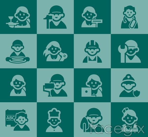 Professional character icon vector