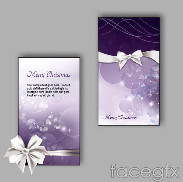 White Ribbon cards vector