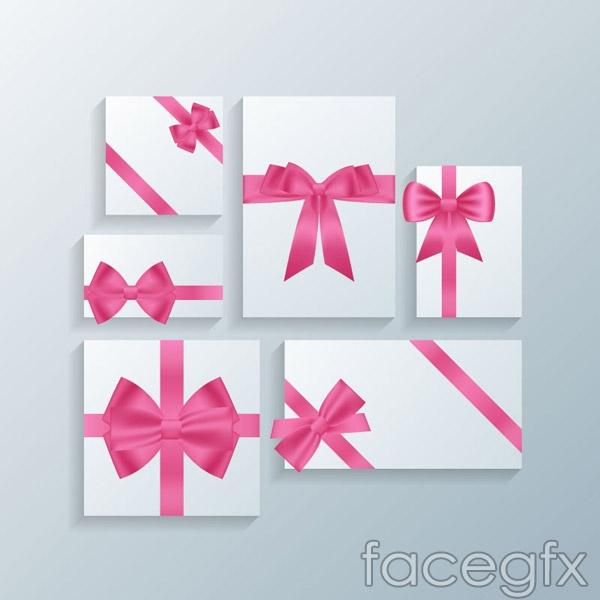 Bow ornament card vector