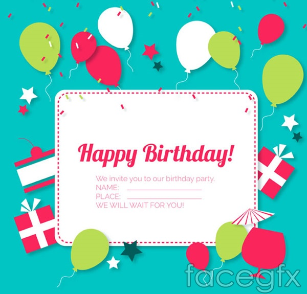 Label birthday greeting cards vector