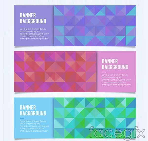 Mosaic square banner vector
